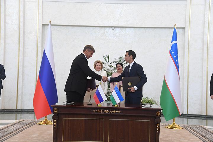 Олий Мажлис и Совет Федерации России договорились сотрудничать в сфере законодательства