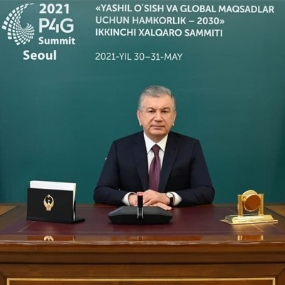 Uzbekistan to Join P4G Partnership and Hold Green Energy Conference for Developing Countries