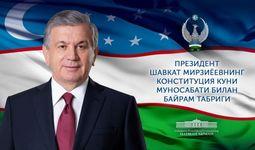 Prezident Shavkat Mirziyoyev O'zbekiston xalqiga bayram tabrigi yo'lladi