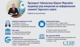 Инфографика: Какие инициативы выдвинул Президент Шавкат Мирзиёев на неформальном саммите Тюркского совета