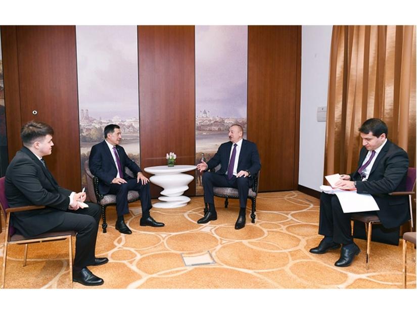 Ильхам Алиев встретился с генеральным секретарем ШОС Владимиром Норовым