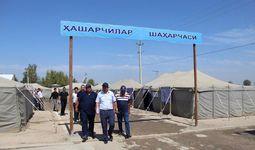 Палаточный городок для сборщиков хлопка в качестве эксперимента создан в Сырдарье
