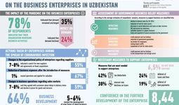 The impact of the coronavirus pandemic on the business enterprises in Uzbekistan