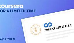 Июль ойи охиригача Coursera платформасидаги 115 та оммабоп курслар буйича бепул сертификат беради
