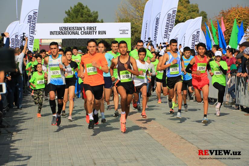 Фоторепортаж: Samarkand Half Marathon