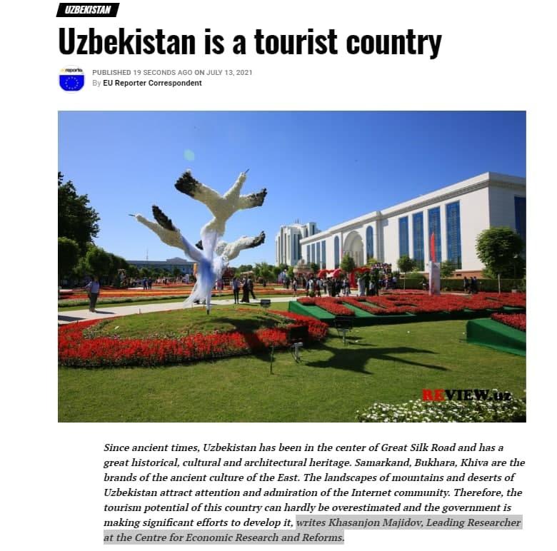 Uzbekistan is a tourist country