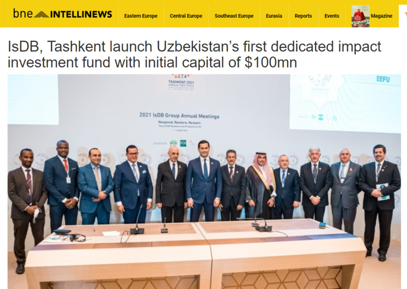 IsDB, Tashkent launch Uzbekistan's first dedicated impact investment fund with initial capital of $100mn