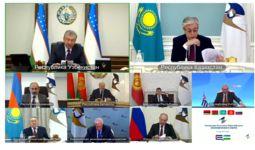 Президент Шавкат Мирзиёев принял участие в заседании Высшего Евразийского экономического совета (+видео)