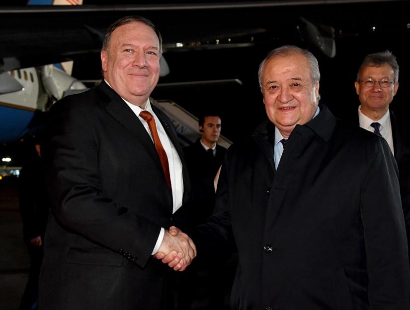 Госсекретарь США Майкл Помпео прибыл с официальным визитом в Узбекистан