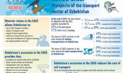 How will the observer status in the Eurasian Economic Union (EAEU) affect the transport sector in Uzbekistan?
