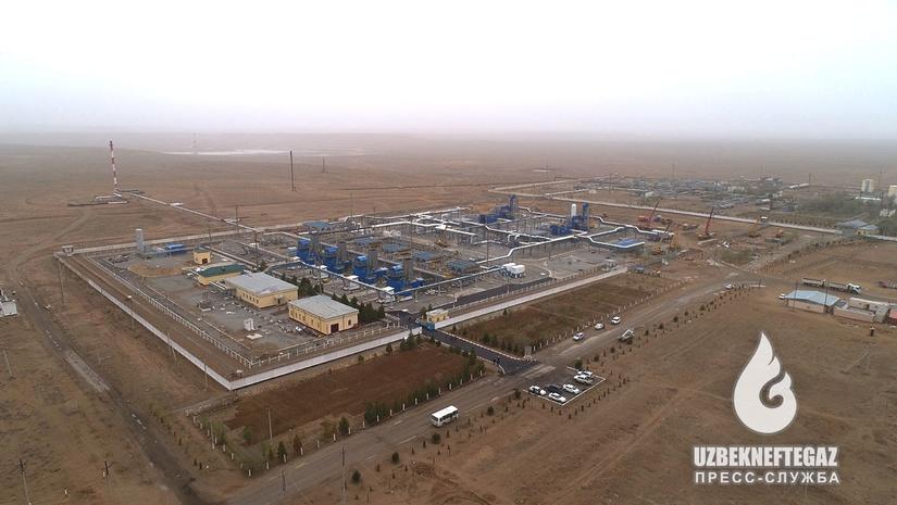 Қашқадарёда йиллик 3,3 млрд куб метр табиий газ босимини ошириш қувватига эга станция ишга туширилди (+фото)