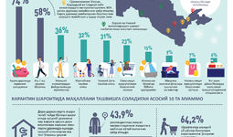 Инфографика: COVID-19 пандемиясининг Ўзбекистондаги маҳаллаларга таъсири