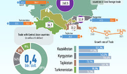 Infographics: Trade of Uzbekistan with Central Asian Countries for January 2021