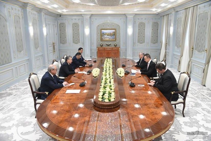 Ўзбекистон Президенти Венгрия делегациясини қабул қилди