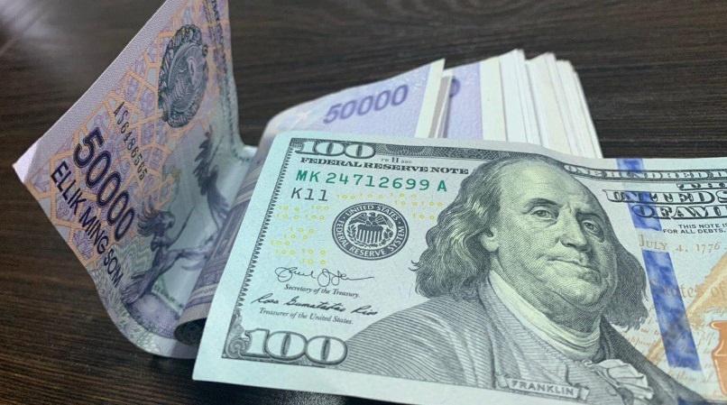 O'zbekistonda dollarning rasmiy kursi yana ko'tarila boshladi