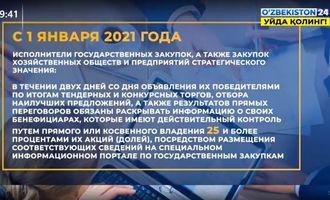 Узбекистан ограничит создание госкомпаний (+видео сюжет)