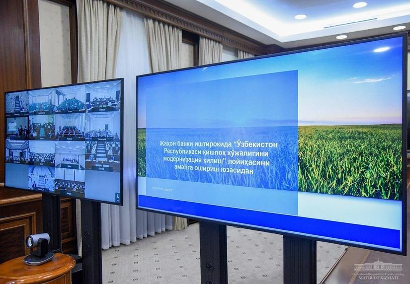 Президент ҳузурида Жаҳон банки кредит маблағлари асосида амалга оширилаётган лойиҳалар муҳокама қилинди
