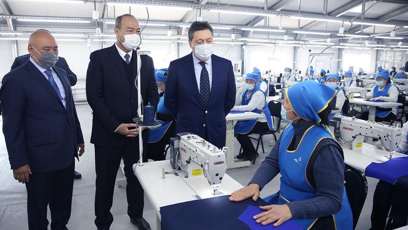 В Туркестане открыта казахстанско-узбекская текстильная фабрика