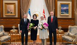 Шавкат Мирзиёев ва Зироат Мирзиёева шарафига Туркия Президенти ва унинг рафиқаси қабул маросими уюштирди