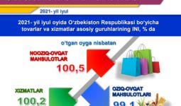 Июль ойида яна 0,2% дефляция қайд этилди