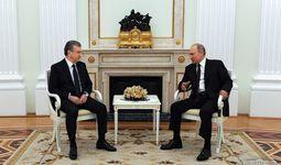 Шавкат Мирзиёев и Владимир Путин провели переговоры в Кремле