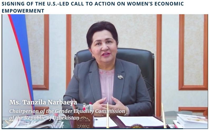 Узбекистан подписал Призыв к действиям по расширению экономических прав и возможностей женщин