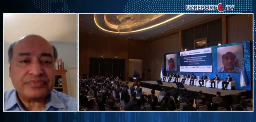 Советник Президента Узбекистана Сума Чакрабарти поддержал сокращение госдоли в экономике страны