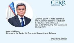 Dynamic growth of trade, economic and investment cooperation between the countries of Central Asia - as a factor of ensuring their sustainable development