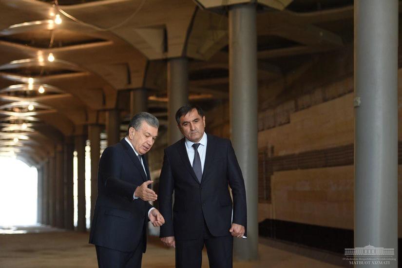 Президент ознакомился с ходом строительства станций Юнусабадской линии Ташкентского метрополитена