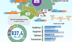 Infographics: Trade of Uzbekistan with Central Asian Countries for February 2021