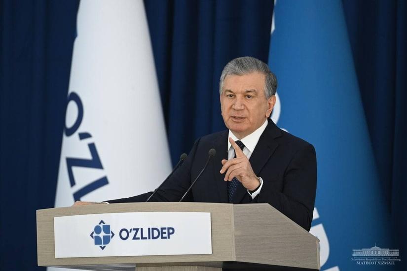 Шавкат Мирзиёев выступил с докладом о своей предвыборной программе