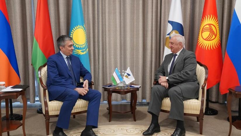 Глава коллегии ЕЭК встретился с Послом Узбекистана