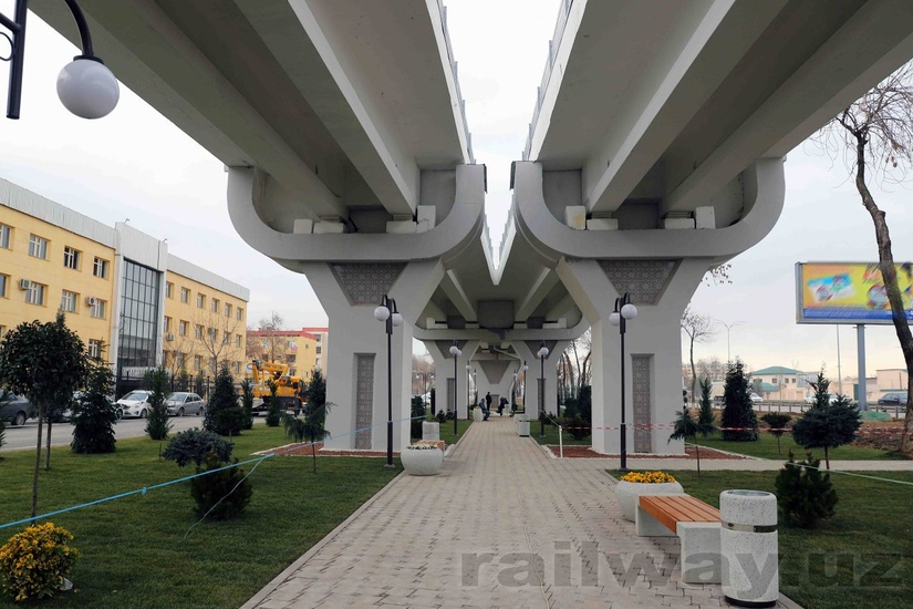В Ташкенте построены шесть станций кольцевой линии метро