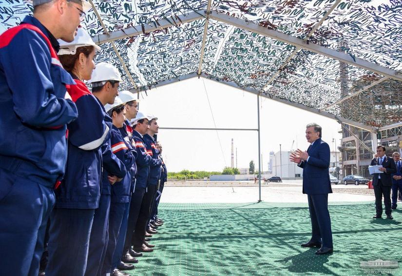 Шавкат Мирзиёев посетил Ферганский нефтеперерабатывающий завод