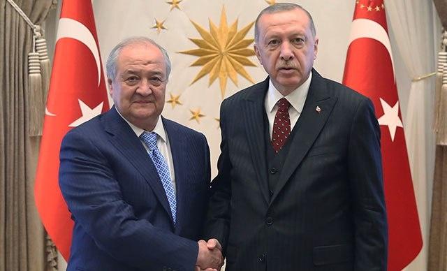 Глава МИД Узбекистана Абдулазиз Камилов встретился с Реджепом Эрдоганом