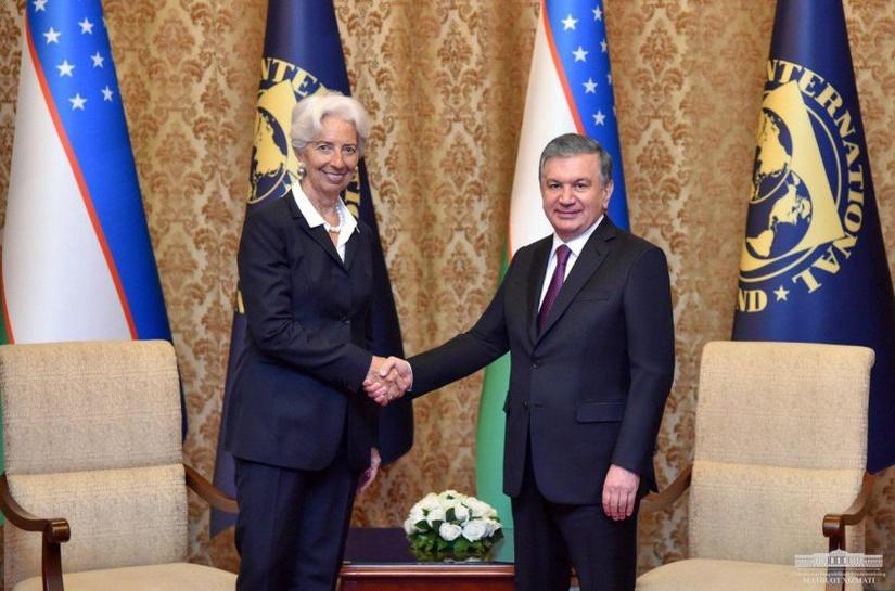 Шавкат Мирзиёев и глава МВФ Кристин Лагард обсудили вопросы экономического развития Узбекистана