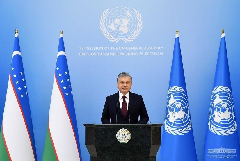 Главное из выступления Президента Шавката Мирзиёева на 75-й сессии Генассамблеи ООН (+видео)