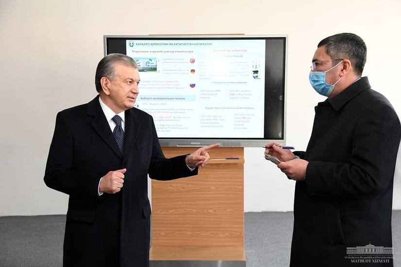 Prezident Respublika nefrologiya va buyrak transplantatsiyasi markazi qurilishi bilan tanishdi ( foto )