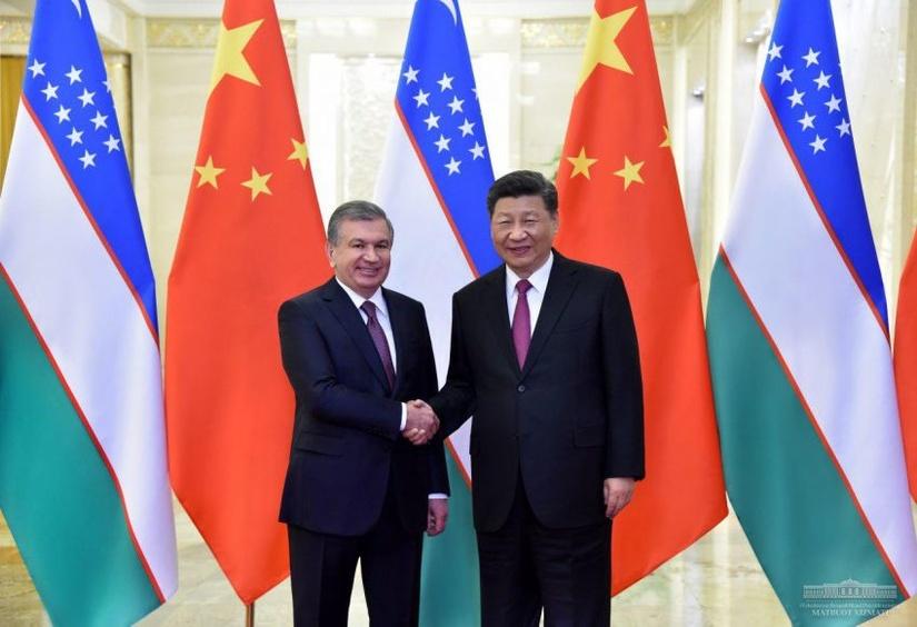 Президент Узбекистана встретился с Председателем КНР
