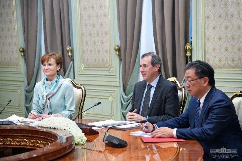 Президент Шавкат Мирзиёев принял вице-президента Всемирного банка Сирила Мюллера
