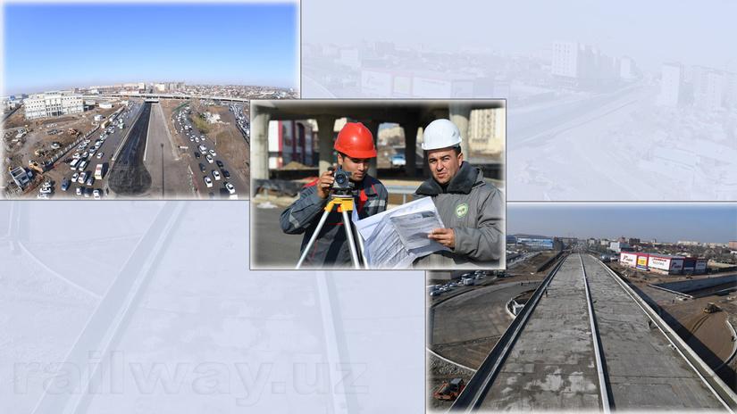 Строительство первой трехуровневой развязки в Ташкенте завершено на 90%