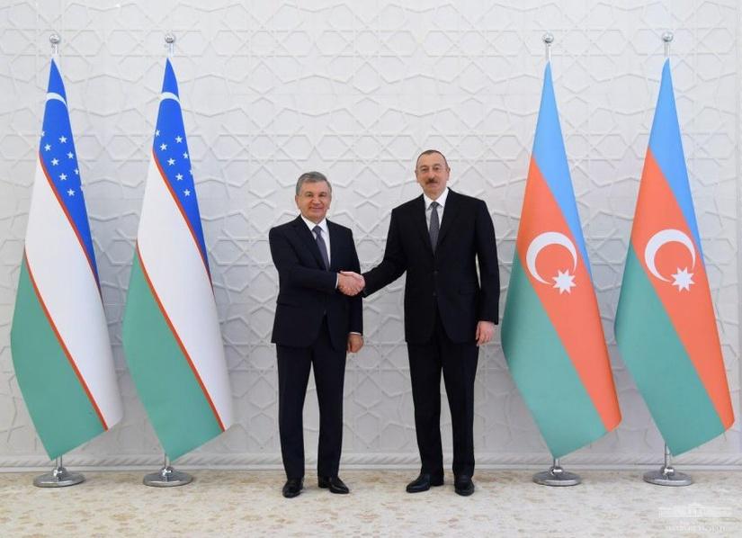 Шавкат Мирзиёев встретился с Ильхамом Алиевым