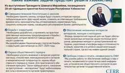 Инфографика: Какие важные задачи предстоит решить Узбекистану