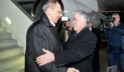 Министр иностранных дел Российской Федерации Сергей Лавров прибыл в Ташкент