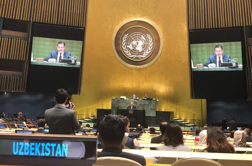 Представитель Узбекистана начал деятельность в качестве заместителя председателя 74-й сессии Генассамблеи ООН
